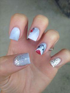 #shark #nails #sharkweek