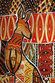 Aboriginal Art Kangaroo   Kangaroo Art   Flickr - Photo Sharing!