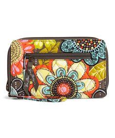 Flower Shower Zip-Around Wallet #zulily #zulilyfinds