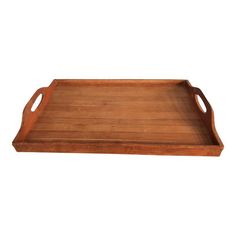 Shop Chairish, the design insider's source for the very best in vintage and contemporary furniture, decor and art. Serving Tray Wood, Wood Tray, Bold Living Room, Design Firms, Soft Furnishings, Bamboo, Good Things, Tableware, Furniture