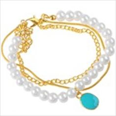 Fashionable 3-Layer Bracelet Hand Chain Wrist Ornament Jewelry with Beads & Pendant Decor for Female Woman Girl