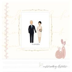 Custom Wedding Portrait Wedding Anniversary Gift For Couple Couple Portraits, Wedding Portraits, Family Illustration, Anniversary Gifts For Couples, Yellow Daisies, Couple Gifts, As You Like, Connect, Wedding Gifts