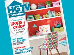 Color, color everywhere in the new September issue of #HGTVMagazine #sneakpeek // http://blog.hgtv.com/design/2015/08/03/color-is-everywhere-in-the-september-issue-of-hgtv-magazine/?soc=pinterest