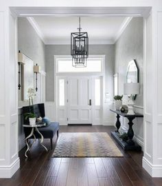 Hallway decorating ideas modern entryway ideas for small apartments foyer with stairs decor modern tips the Front Entryway Decor, Hallway Ideas Entrance Narrow, Modern Entrance, Modern Entryway, Entrance Foyer, Entry Hallway, House Entrance, Entrance Halls, Entryway Stairs