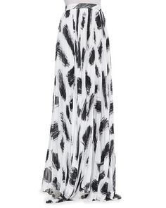 Shannon+Pleated+Brush-Print+Maxi+Skirt+by+Alice+++Olivia+at+Neiman+Marcus.