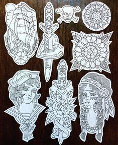 Right Ed hardy sleeve Flash Art Tattoos, Tattoo Flash Sheet, Body Art Tattoos, Tattoo Drawings, Ship Tattoos, Gun Tattoos, Bear Tattoos, Tatoos, Traditional Tattoo Outline