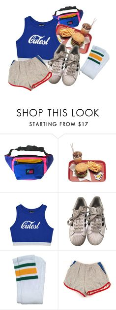 """""""A little bit of clash"""" by bear-dust ❤ liked on Polyvore featuring adidas, Summer, 90s, 80s, retro and aesthetic"""