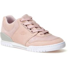 Lacoste LIVE Indiana sneakers in suedette with nubuck accents ($160) ❤ liked on Polyvore featuring shoes, sneakers, nubuck sneakers, lacoste sneakers, lacoste trainers, colorblock shoes and lacoste footwear