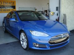 blue Tesla