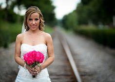 Railroad Tracks Bride - JPG Photos