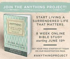 What keeps you from surrender? Is it unbelief? Pretending? Shame? @jenniesallen  #AnythingProject #FREE #BibleStudy