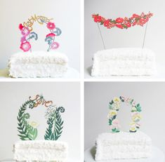 Add a personal touch to every cake with handcrafted cake toppers! Visit the Craftsy Blog to take a look at some of our favorite examples of these creative toppers.