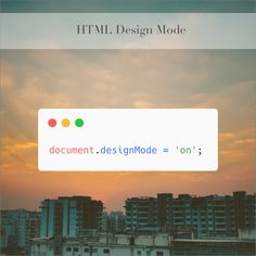 Sometimes as a #designer it is useful to just put your hands all over a website to tinker with it as you wish. With the #HTML spec there is a property called designMode that when active, allows you to make the entire webpage editable.  #css #webdevelopment #developers #computerscience #webdeveloper #webdev #frontend #programmer #softwaredeveloper #designers #uiux #html5