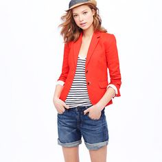 blazer in linen, cute summer look!