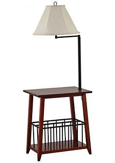 Table with attached lamp end table with build in floor lamp seville swing arm floor lamp end table mozeypictures Images
