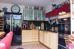 Attraktiv #AmerikanischerKühlschrank #Ikea Küche Blick Zum Kühlschrank