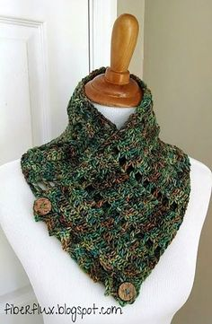 Earth Fairy Button Cowl By Jennifer Dickerson - Free Crochet Pattern - (ravelry)