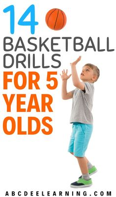 Is your 5 year old starting to show interest in basketball? Help their skills progress by trying my 14 basketball drills that are age appropriate and fun! These drills work on dribbling, shooting, passing and defense. Basketball Drills For Kids, Basketball Shooting Drills, Basketball Workouts, Basketball Quotes, Basketball Coach, Basketball Players, Kentucky Basketball, Kentucky Wildcats, College Basketball