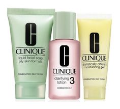 $19.88 - Clinique 3 Step Travel Size Set for Combination Oily to Oily Skin, Liquid Facial Soap Oily Skin (1 Oz) + Clarifying Lotion 3 (1 Oz) + Dramatically Different Moisturizing Gel (0.5 Oz) #sets #kits #clinique