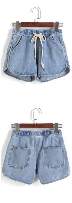 Denim shorts.Great with Simple grey tee and loafers. Click for all the items at romwe.com. Up to 60% off for you!