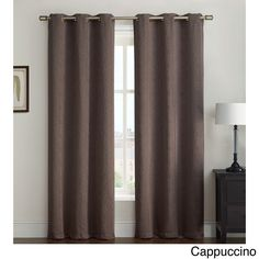 Available in various attractive shades, these Kenneth curtain panels will look great in every room of your home. These grommet curtains are incredibly easy to install and add a nice splash of color to any existing home decor.