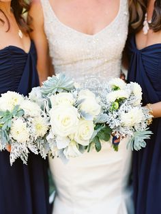 Pretty shot of bouquets