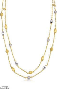 Two Strand 18K Gold Necklace by Chow Sang Sang