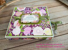 Serviettenziehverpackung mit dem Stampin up DSP Geburtstagssoiree 1#Michaela Windhager#Papier Vampir#Stampin up#WZ