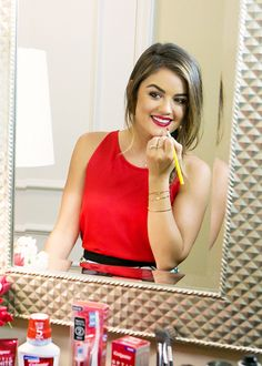 """""""Accessories can make the outfit but your best accessory and biggest asset is always your smile!"""" - Lucy Hale for Colgate® Optic White®"""