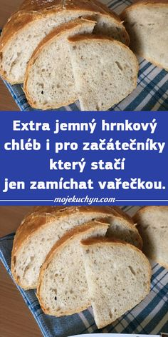 Czech Recipes, Food And Drink, Bread, Cooking, Scrappy Quilts, Recipes, Kitchen, Bakeries, Breads