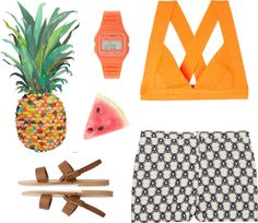 """fruity"" by gwanaa ❤ liked on Polyvore"