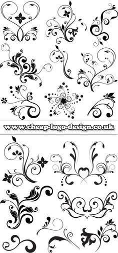 floral stencils www.cheap-logo-design.co.uk #floralgraphics #logodesign #graphics
