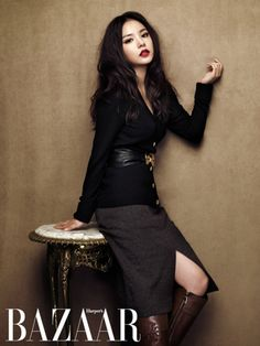 Korean actress, MIn Hyo Rin for Harper's Bazaar