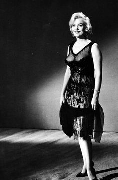 Marilyn Monroe in a wardrobe test for Some Like It Hot, 1958.