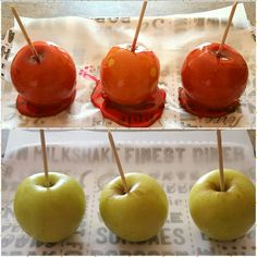 Candied apples...not too bad but can be improved