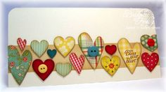 CAS156 Retro Button Hearts by bfinlay - Cards and Paper Crafts at Splitcoaststampers