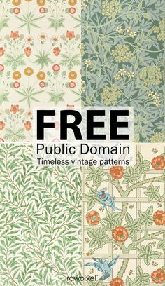 54 Best Ideas For Design Pattern Art William Morris Arts And Crafts For Teens, Art And Craft Videos, Crafts For Girls, Motif Vintage, Vintage Patterns, Vintage Pattern Design, Vintage Art Prints, Arts And Crafts Movement, Sand Crafts