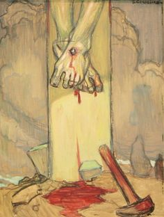 The Feet of the Crucified. Artist:Jean-Georges Cornelius (1880-1963) ! Musée du Hieron, Paray-le-monial, France
