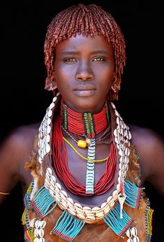 A stunning African woman. From the Hamer tribe / Omo Valley-Southern Ethiopia