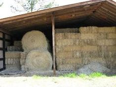 Equine Facilities: Hay and Shavings Storage - eXtension.org/Horses #horses #hay