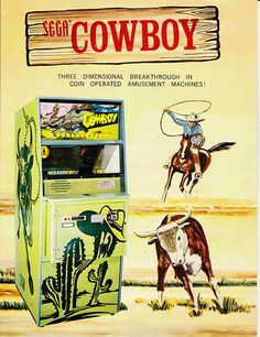 Sega Cowboy, 1974, Arcade Advertising Flyer