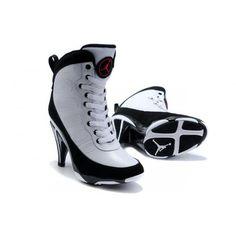 Womens Air Jordan 9 High Heels White Black Boots , Price: $93.66 - Jordan Shoes,Air Jordan,Air Jordan Shoes - MyJordanshoes.com