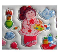 Cabbage patch kids stickers! Oooh!!!!! I loved them!
