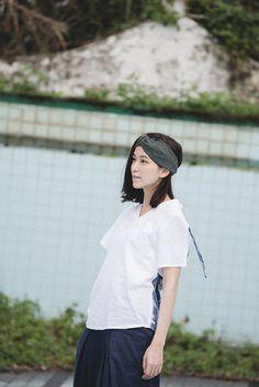 蠢蠢欲動-寬版交叉小格紋鬆緊髮帶 (共五色) - NANHI 男孩 | Pinkoi