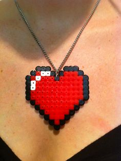 Heart Hama Necklace $7.00 shipping to the USA ONLY  Send inquiries to KandiPlease@gmail.com