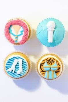 Mamma Mia Cupcakes, by RosyCakes. Fondant, cupcakes, theatre, West End. 13 Birthday Cake, 10th Birthday Parties, 17th Birthday, Birthday Party Themes, 50th Party, Mamma Mia Wedding, Themed Cupcakes, Fondant Cupcakes, Seventeen