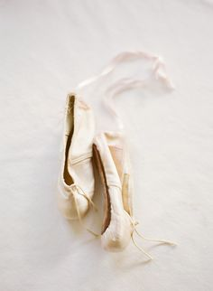 vintage ballet slippers shot by KT Merry
