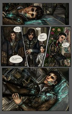 Dishonored --> damn that will be terribly sad 0.0 but awesome art! wish I could read it