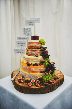 Start a new tradition with this modern Cheese Wedding Cake