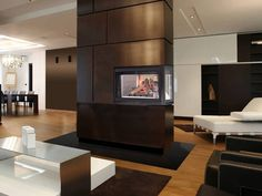 Three Sided Electric Fireplace